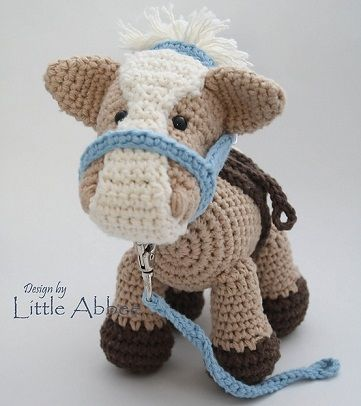 Free Crochet Pattern For Horse Hat : Caballos tejidos a crochet - Moldes Para Manualidades