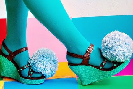 Decorar zapatos con pompones de estambre