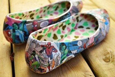 Como decorar zapatillas con comics